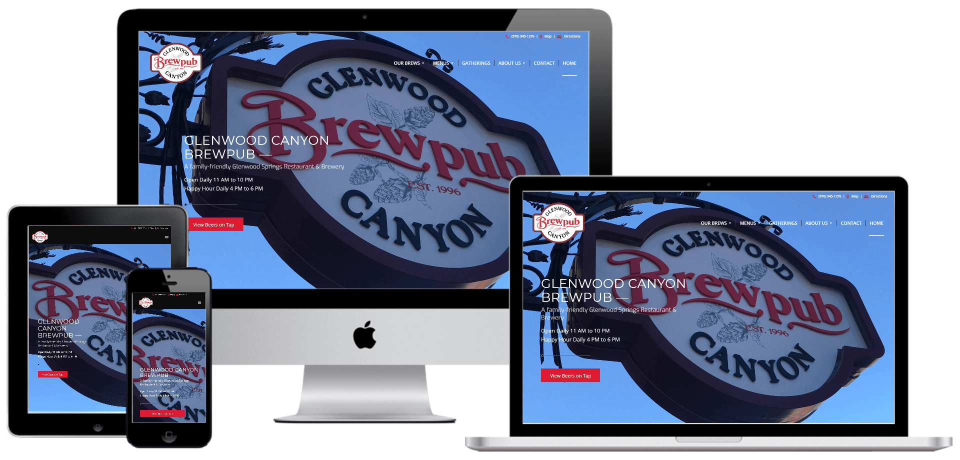 Glenwood Canyon Brewpub mockups