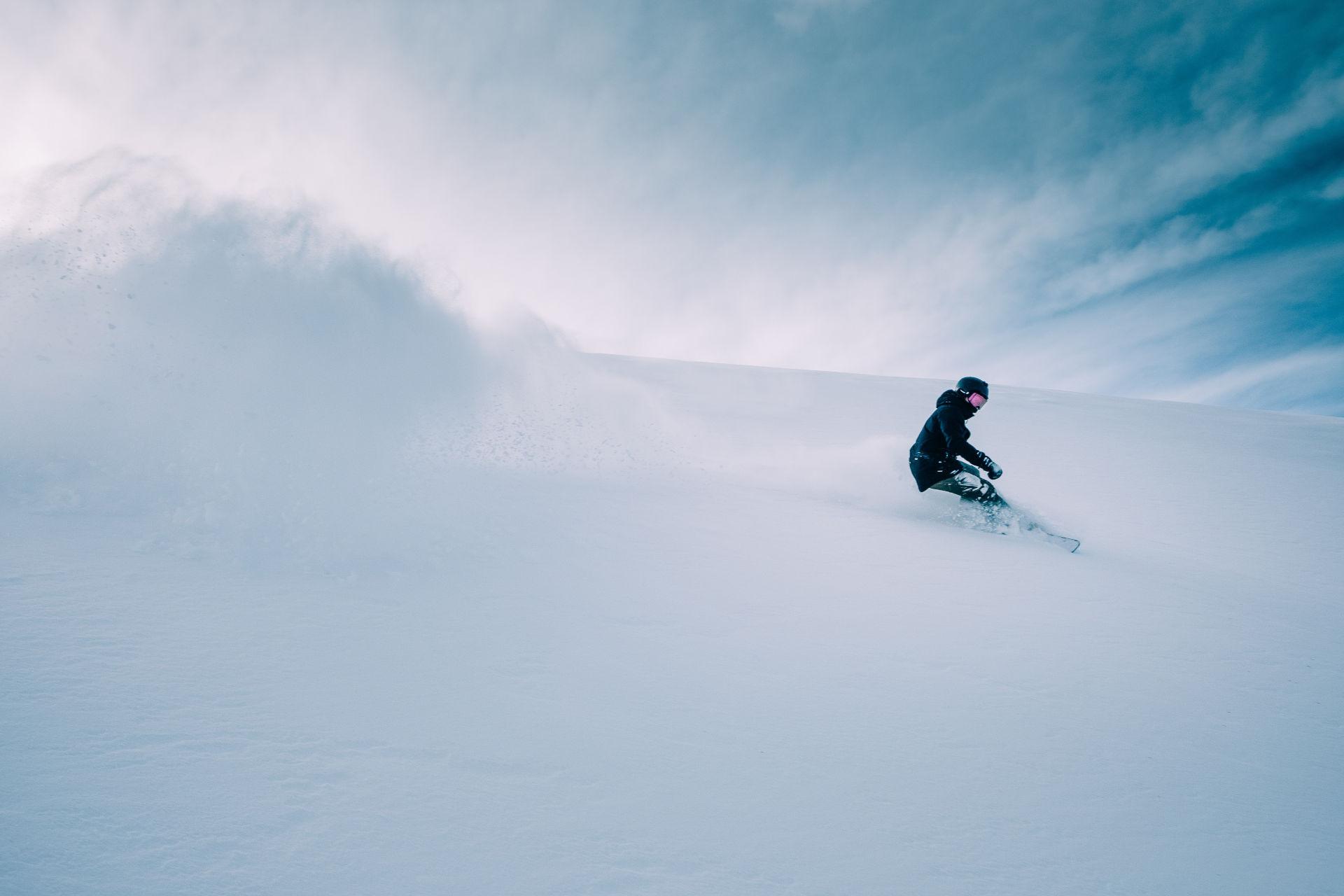 Goofyfooter Snowboarder